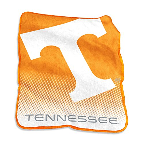 Logo Brands NCAA Tennessee Volunteers Raschel Throw, One Size, Tangerine (Tennessee Volunteers Fleece Throw)