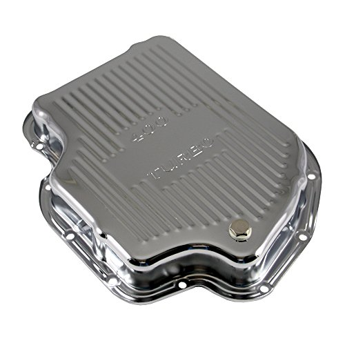 Assault Racing Products A9121 GM Chevy Turbo 400 Chrome Steel Transmission Pan Stock Capacity TH400 - Chevy Blazer Turbo