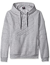 Southpole Men's Hooded Pull Over Fleece with Moto Biker Details in Stars and Stripes Patterns