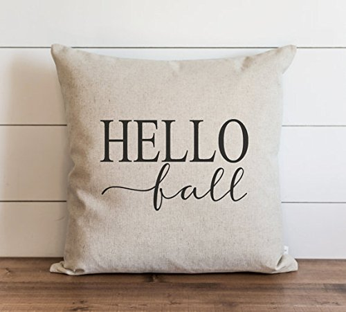 Hello Fall Pillow Cover // Autumn // Fall // Throw Pillow Cover // Gift for Her // Accent Pillowcase // Thanksgiving // 16x16