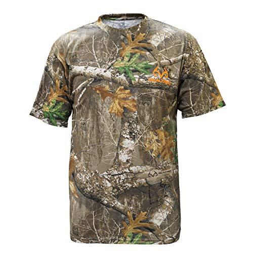 - Staghorn Realtree Men's All Over Camo Short Sleeve Tee-Shirt, Edge, XX-Large