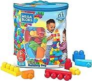 Mega Bloks First Builders Big Building Bag with Big Building Blocks, Building Toys for Toddlers (80 Pieces) -