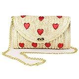 Best Donalworld Messenger Bags - Donalworld Girl Embroidery Woven Clutch Cute Beach Messenger Review
