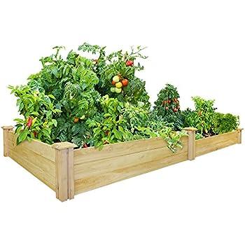 Greenes Fence 48 Inch X 96 Inch Cedar Raised Garden Bed Raised Garden Beds