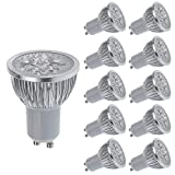 AFSEMOS Ultra Bright 5W LED Light Bulbs GU10,Track Lighting,Recessed Lighting Fixtures,Spotlight Lamps,Downlight,Non-Dimmable,50W Incandescent Equivalent,Warm White 3200K,400Lm,Pack of 10 units