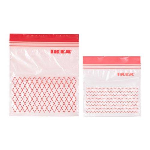 Ikea New ISTAD - Bolsa de plástico para congelador, 30 Bolsas (0,4 ...
