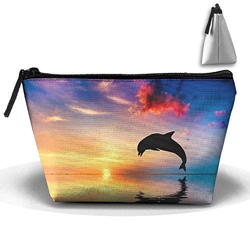 RobotDayUpUP Beautiful Sunset Ocean Dolphin Womens Travel Co