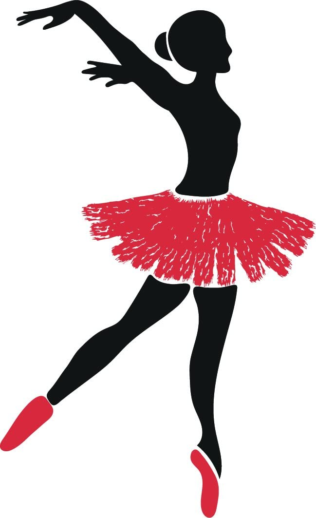 Amazon Com Beautiful Ballerina Dancer Cartoon Silhouette Vinyl Sticker 2 Tall Pirouette Automotive