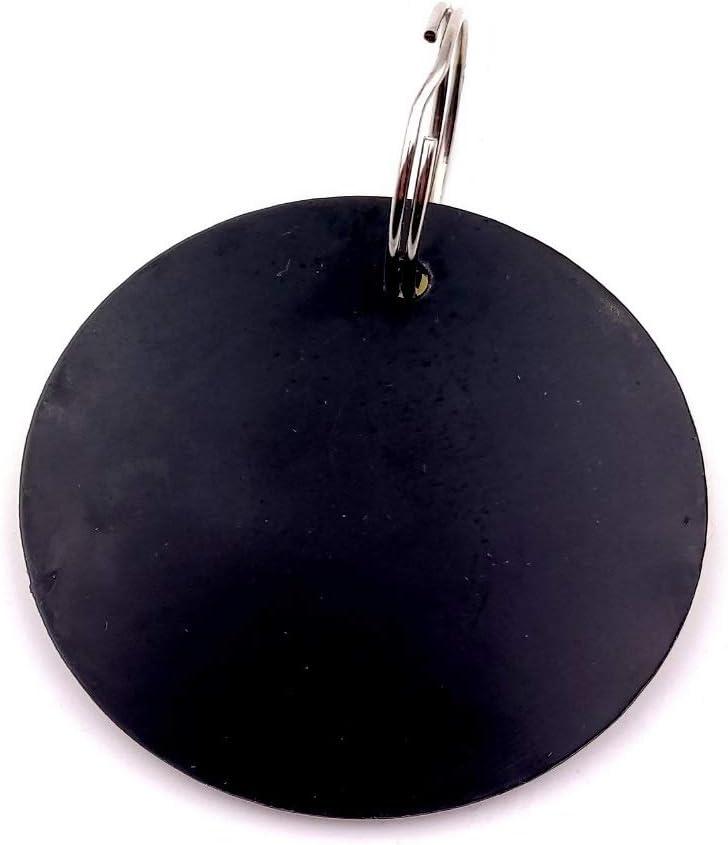 B/&B Chambres dh/ôtes OriginDesigned Porte-cl/és circulaires num/érot/és de 1 /à 5 en Plastique Acrylique Jaune avec num/éros grav/és Noirs pour h/ôtels Entreprise
