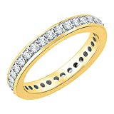 Diamond Eternity Band in 10K Yellow Gold (1/2 cttw) (GH-Color, I2/I3-Clarity) (Size-5.25)