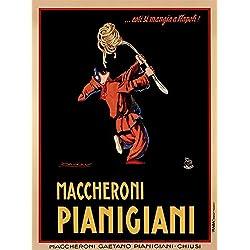 Maccheroni Pianigiani 1922 by Achille Luciano Mauzan Art Print, 27 x 36 inches