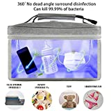 LED UV Leaner for Baby bottle,Phone Sanitizer Bag for Jewelry, Beauty Tools,Face Mask,Underwear,99% Cleaned in 60s