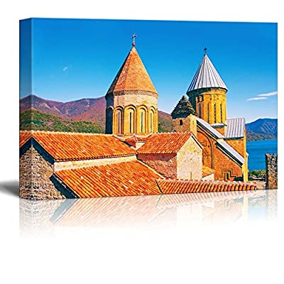 Canvas Prints Wall Art - Ancient Fortress Ananuri in Georgia Country, Europe - 16