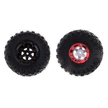 Sharplace Neumáticos del Neumático De La Llanta De La Rueda 2pcs para Wltoys 12428 12423 Camiones del RC Que Repiten Piezas del Modelo: Amazon.es: Juguetes ...