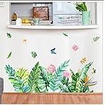 Buzdao Flower Vine Wall Sticker Decals Refrigerator Window Cupboard Home Decorations DIY Home Decals Art Mural Posters Home Decor 40X40Cm