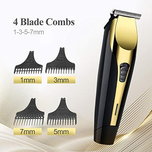 Haarschneider für Männer, MEGFENPA Haarschneider Bartschneider für Männer、Kinder 、 Baby-Haarschneider-Kit, Professional mit 4 Führungskämmen