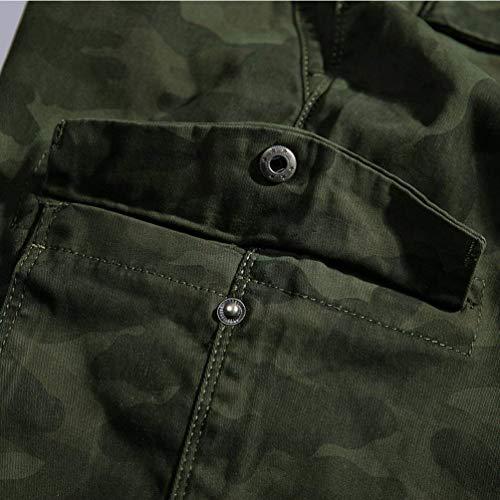 Libre Al Vestir Camuflaje Aire Multi Con Casual Casuales Moda Cónicos bolsillo Deporte Modernas Vintage Pantalones De Kaffee Slim 1qwfpSOx