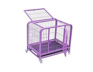 CLQya Las jaulas para perros, perros grandes mascotas jaula de la ...