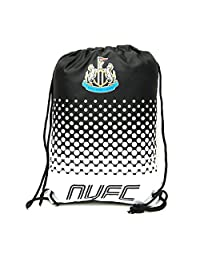Newcastle United FC Official Fade Football Crest Drawstring Sports/Gym Bag (One Size) (Black/White)