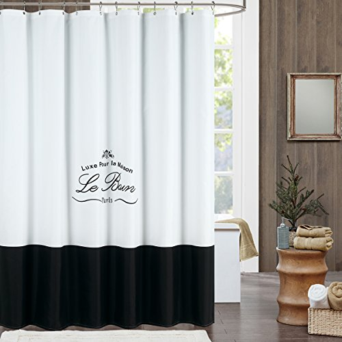 Le Bain Shower Curtain Mildew Resistant Polyester Fabric
