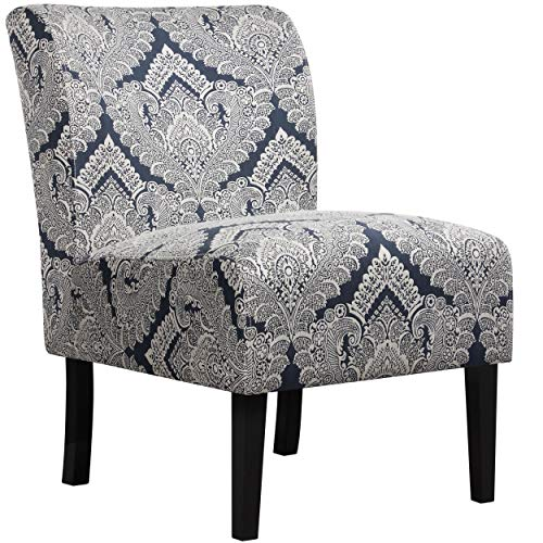 Yaheetech Accent Chair Armless Sofa Side Chairs Single Sofa Deco Living Room Bedroom Office Chair Sapphire