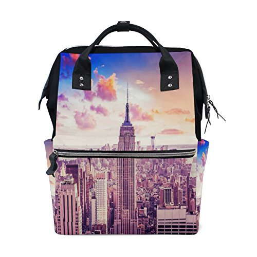 Diaper Bags Backpack Purse Mummy Backpack Fashion Mummy Maternity Nappy Bag Cool Cute Travel Backpack Laptop Backpack with Top Selection of New York Daypack for Women Girls - Hut York New