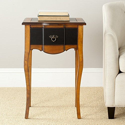Safavieh American Homes Collection Newbury Black and Cherry-Brown End Table