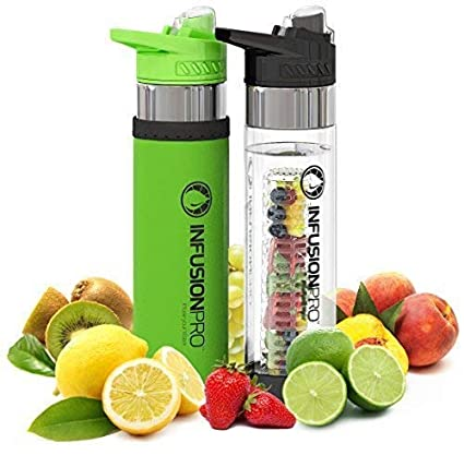 d1a28203ca Infusion Pro (V2.0) - Premium 2 Pack Fruit Infused Water Bottle - Bottom  Infuser with Flip Top ...