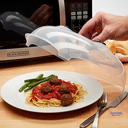 TFM Clear Magnetic| Microwave Plate Cover, Hover Magnetic Function, Convenient and Safe with Steam Vent, Prevents Splatter, Food-Grade PP Material| BPA-Free, FDA-Certified|Dishwasher-Safe