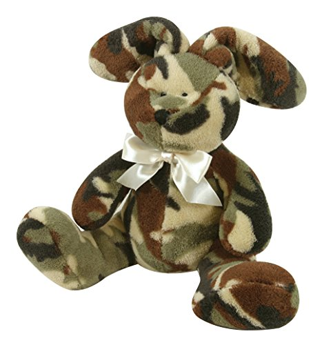 Stephan Baby Super-Soft and Huggable Plush Bunnie, Camo Print, 9 Inch