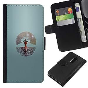 All Phone Most Case / Oferta Especial Cáscara Funda de cuero Monedero Cubierta de proteccion Caso / Wallet Case for LG G2 D800 // Tree Of Life