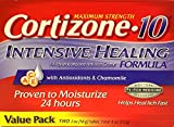 Cortizone-10 Max Strength Cortizone-10 Intensive Healing Formula with Antioxidants and Chamomile, Two 2 oz tubes