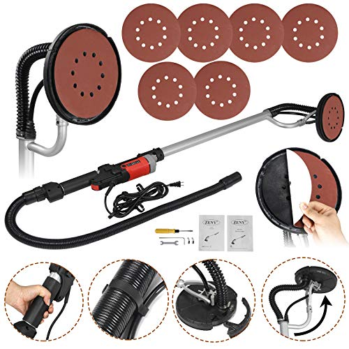 ZENY 800W Electric Drywall Sander Adjustable Variable Speed w 6 Sand Pads