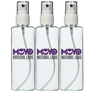 MoYo Natural Labs Large Durable Fine Mist Pump Sprayers 3.4 oz Travel Bottle Pump Sprayer Set quantity 3 BPA