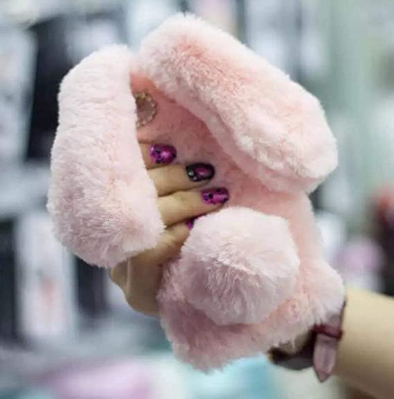 premium selection aa797 8bf55 Iphone 5/5s Fur Rabbit Case,Jesiya luxury Cute Toy Warm Handmade Bunny  Furry Soft Rabbit Fur Hair Lace Flower Bumper Plush Case Cover For Iphone  5/5s