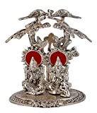 Silver Plated Laxmi Ganesh Tree God Idols 92.5 Oxidized Silver Finish Exclusive Gift For Diwali, Corporate Gift and Wedding Return Gifts