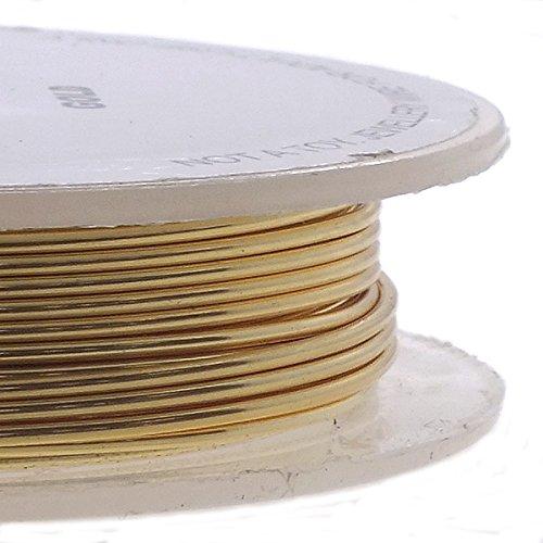 Non-Tarnish 10m Gold Colour 22ga Craft//Jewellery Wire 0.6mm
