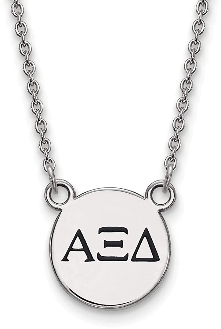 18 Sterling Silver Alpha Xi Delta X-Small Pendant Necklace by LogoArt SS016AXD-18
