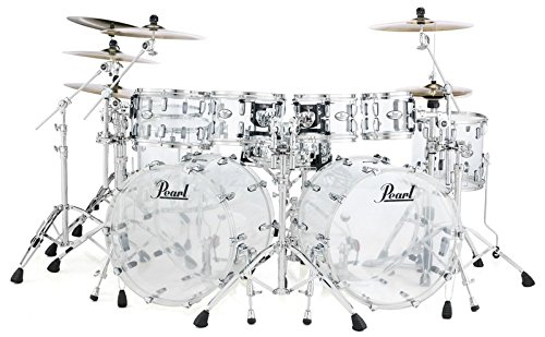 Pearl Crystal Beat Acrylic Floor Tom 14x13-Ultra Clear (Pearl Acrylic Drums)