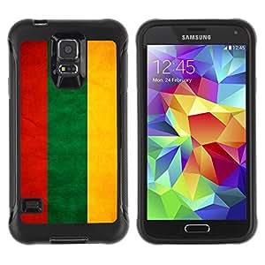 LASTONE PHONE CASE / Suave Silicona Caso Carcasa de Caucho Funda para Samsung Galaxy S5 SM-G900 / National Flag Nation Country Lithuania