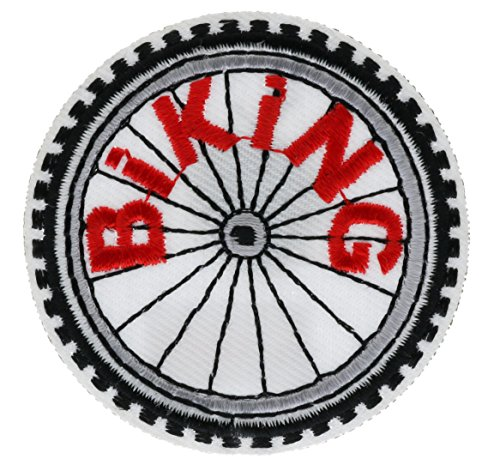 Biking Wheel Tire Embroidered Patch 2 inch AVA0607