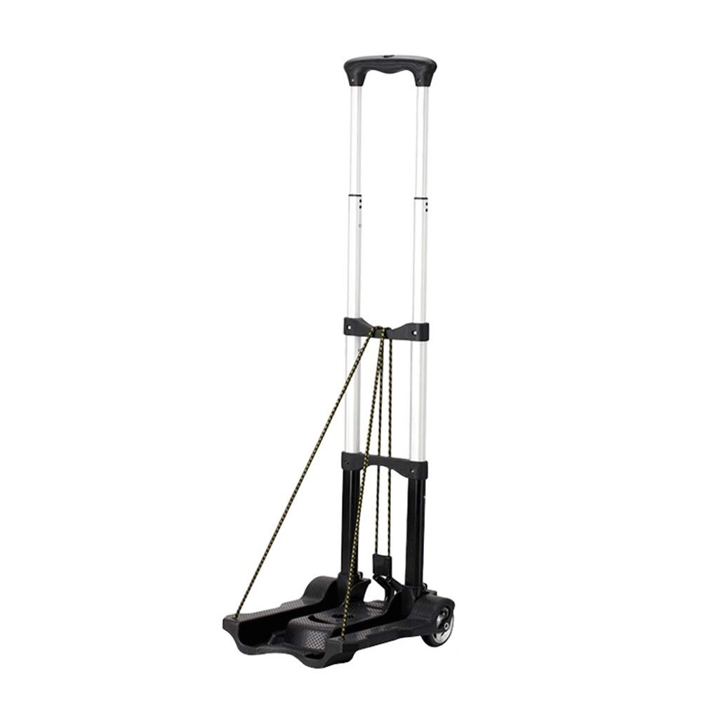 Foldable Trolley, Lightweight Aluminum Trolley Luggage Cart, Can Be Put Into The Backpack Storage, Maximum Bearing Capacity: 35KG (Color : Trolley)