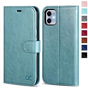 OCASE Coque iPhone 11, Antichoc TPU Housse iPhone 11 Cuir Premium Flip Case Portefeuille Etui Rabat [Béquille] [Fentes…