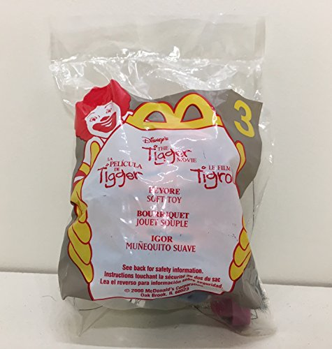 McDonald's 2000 Happy Meal Toy Walt Disney : The Tigger Movie #3 Eeyore The Donkey Plush - Walt Tigger Disney