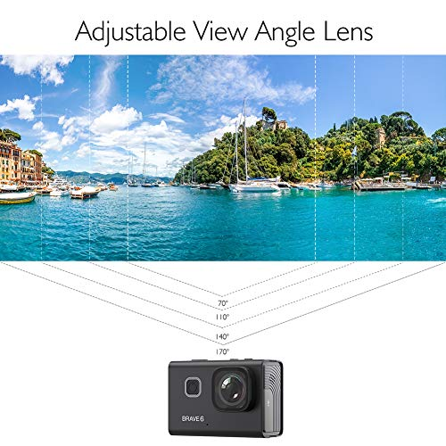 AKASO Brave 6 4K 20MP WiFi Action Camera Voice Control EIS 30m Underwater...