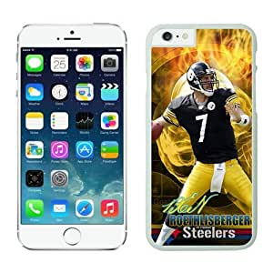 NFL Pittsburgh Steelers Ben Roethlisberger iPhone 6 Cases White 4.7 Inches NFLIphone6Cases14228