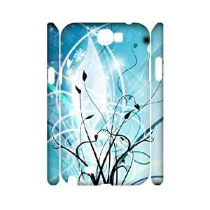 3D Vector Series, Samsung Galaxy Note 2 Cases, Abstract Vector Vines Cases for Samsung Galaxy Note 2 [White]