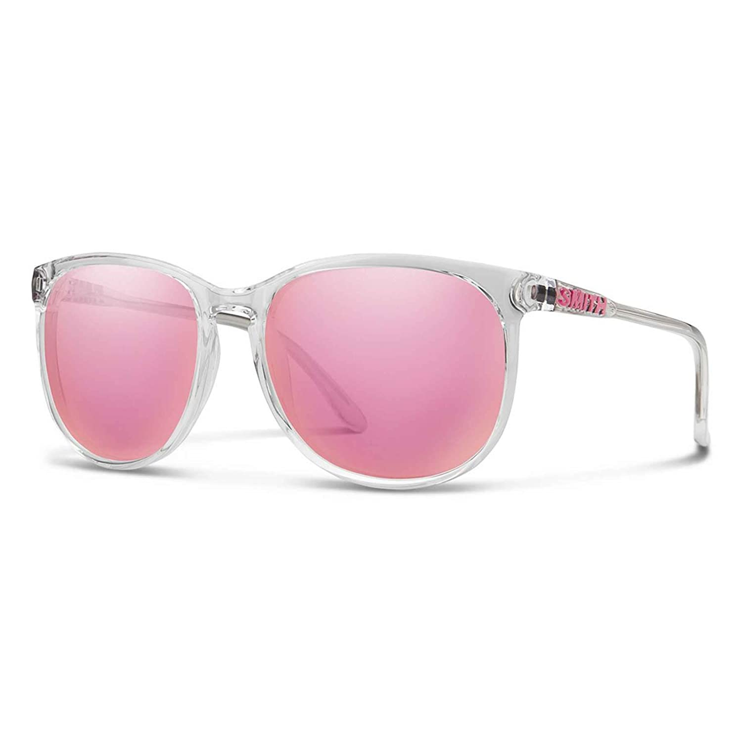 36d1d09c78 Amazon.com  Smith Optics Womens Mt. Shasta Archive Sunglasses - Crystal Carbonic  Pink Mirror  Clothing