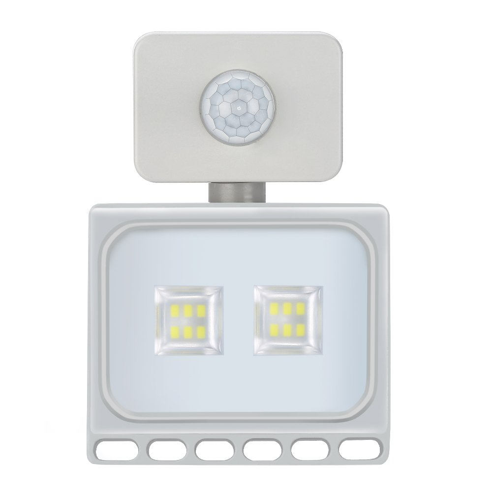 10w Motion Sensor Night Light Outdoor Led Super Bright Floodlight Switch With Pir Security Cold White Waterproof