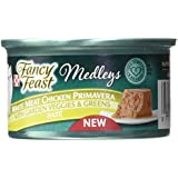 Purina Fancy Feast Medleys Pate Collection Gourmet Wet Cat Food, (24) 3 oz. Cans, White Meat Chicken Primavera  with Garden Veggies & Greens